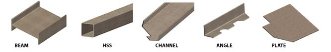 structural steel sample - ساختمان فولادی